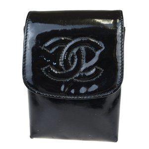 Chanel Cigarette Case Black Patent leather